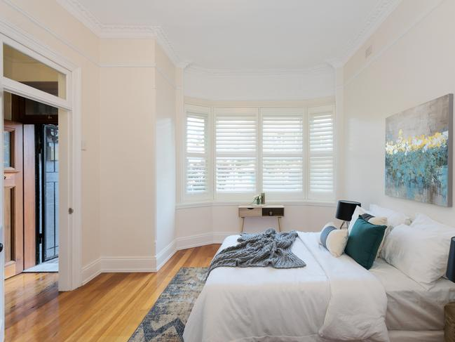 One of the bedrooms at 46 Fort St, Petersham