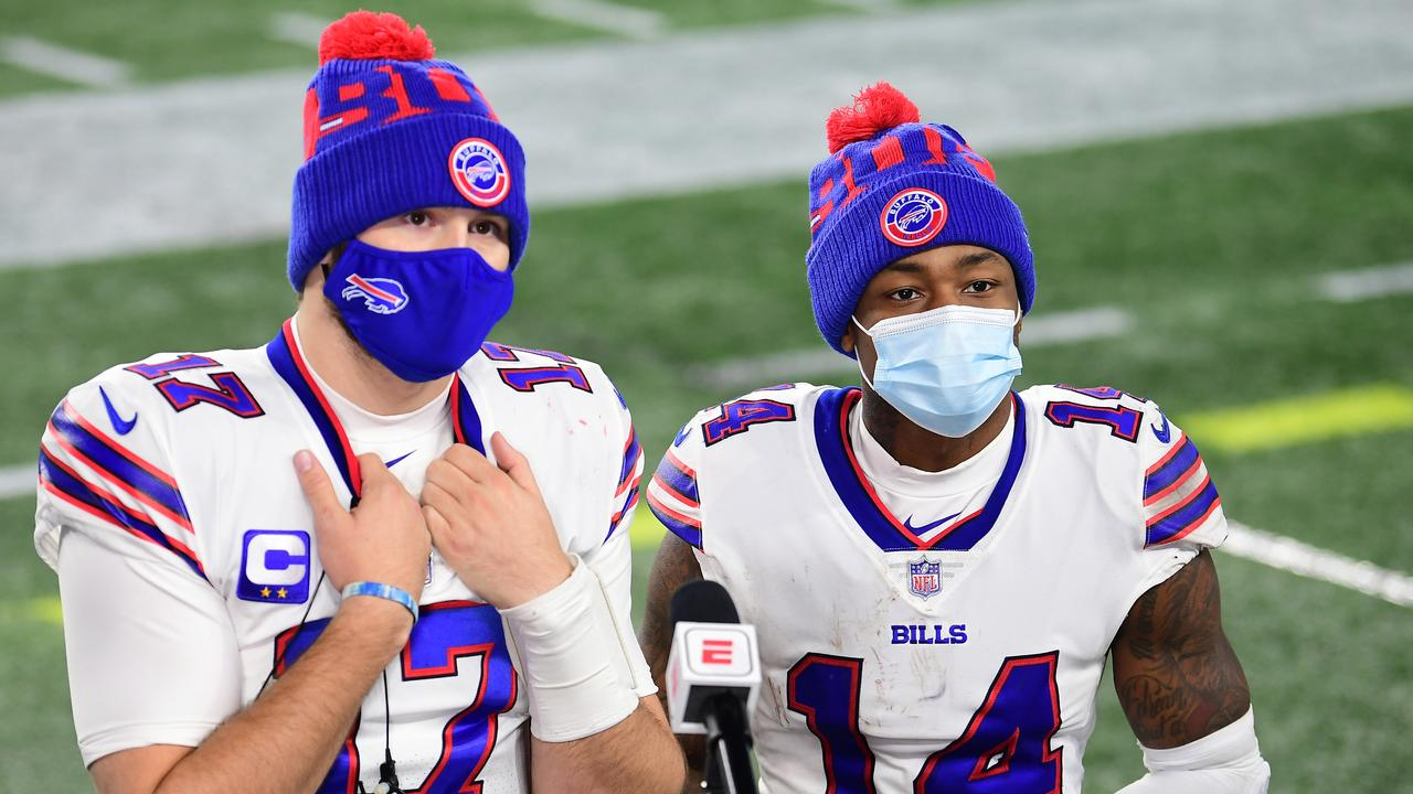 The addition of Stefon Diggs, and the rise of Josh Allen, have the Bills looming as serious Super Bowl contenders. (Photo by Billie Weiss/Getty Images)