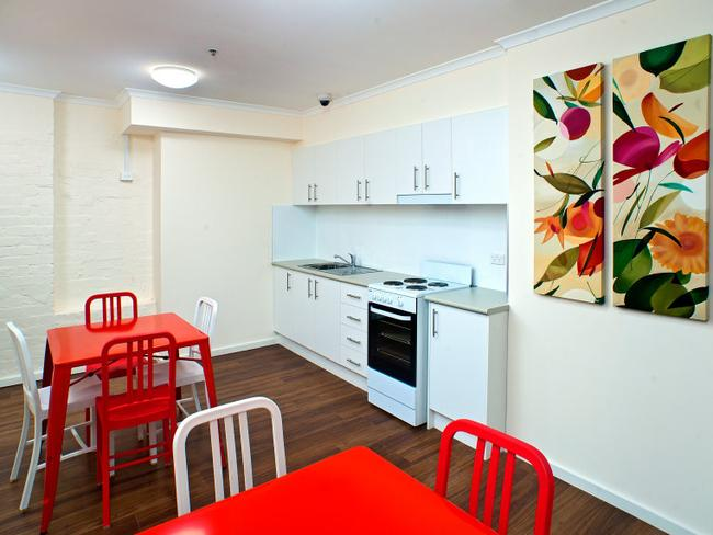 It also features a shared kitchen area. Picture: Evolve Housing