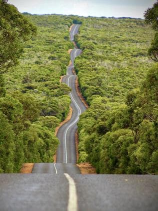 A winding road through Flinders Chase National Park, taken before the fire. Picture: Instagram/ @ajcx89