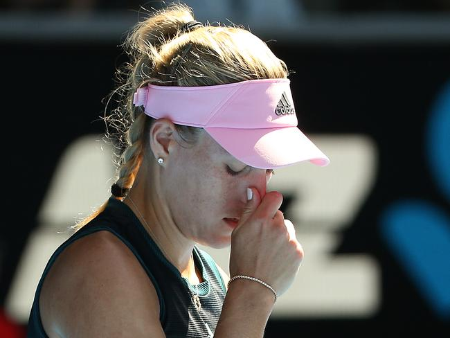 Angelique Kerber has been ousted.