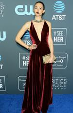 Actress Emmy Rossum arrives for the 24th Critics' Choice Awards at Barker Hangar Santa Monica airport on January 13, 2019 in Santa Monica, California. (Photo by Jean-Baptiste LACROIX / AFP)