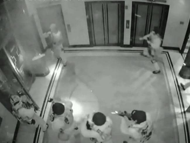 CCTV showing the moment the tactical operations unit storm the Lindt Cafe in Martin Place, killing Man Haron Monis.