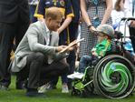 DUBLIN, IRELAND - JULY 11: Prince Harry, Duke of Sussex speaks to a young player at Croke Park, home of Ireland's largest sporting organisation, the Gaelic Athletic Association during his visit with Meghan, Duchess of Sussex to Ireland on July 11, 2018 in Dublin, Ireland. Picture: Chris Jackson - Pool/Getty Images