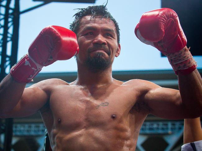 Manny Pacquiao: No longer a mighty champion.