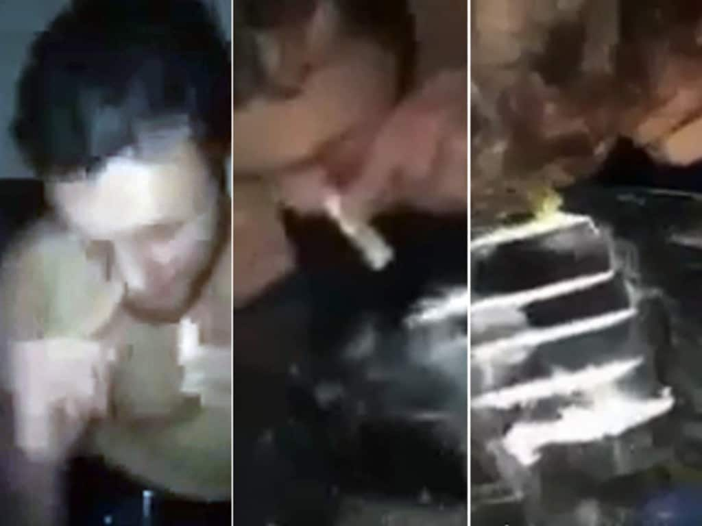 Shane Mumford was filmed snorting a large quantity of white powder.