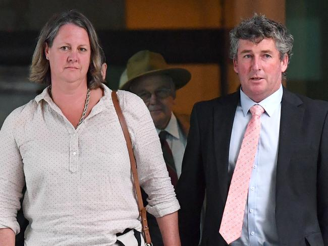 Former Tasmanian farmers Dimity Hirst and Michael Hirst said the bank had 'never shown empathy' or 'compassion' as they appeared before the commission. Picture: Darren England/AAP