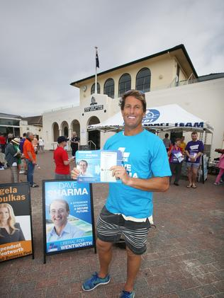 """Sharma has received support from prominent local figure Anthony """"Harries"""" Carrol, a lifeguard whom Sharma assisted in raising funds for local surf clubs. Picture: Bob Barker"""