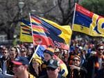 Crows fans pictured before the Grand Final. Picture: AAP Image/Julian Smith