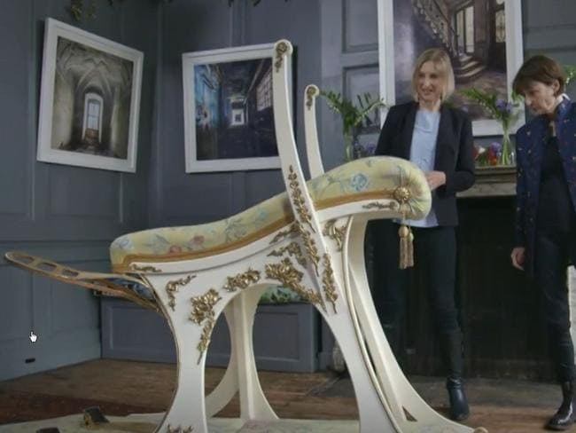 Edward VII's (Bertie's) sex chair. Picture: The Smithsonian Channel