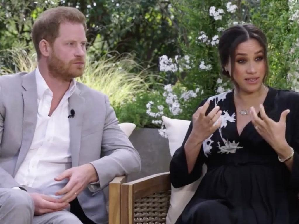 The couple's attack on the royal family started with their tell-all Oprah interview. Picture: CBS