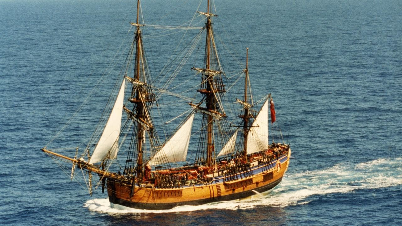This is a replica, or exact copy, of the  <i> Endeavour</i> sailing from Western Australia to South Australia in 1994.