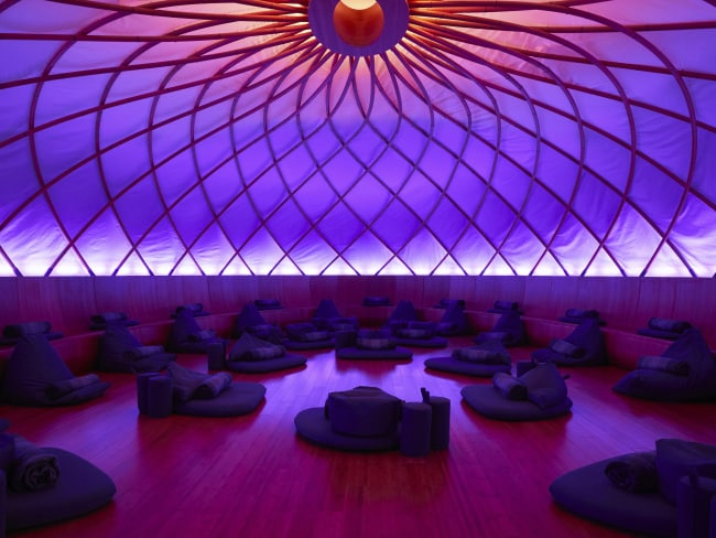 The Dome room was designed to be an immersive light and sound environment. Photo: Inscape