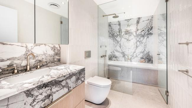 Inside the luxe bathroom.
