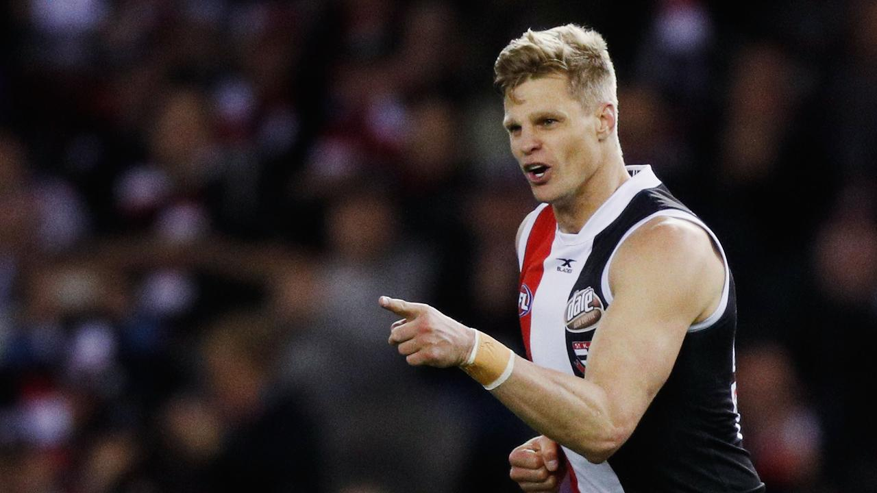 Nick Riewoldt during his decorated career at St Kilda.
