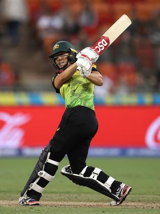 In action for Australia during the women's T20 World Cup.
