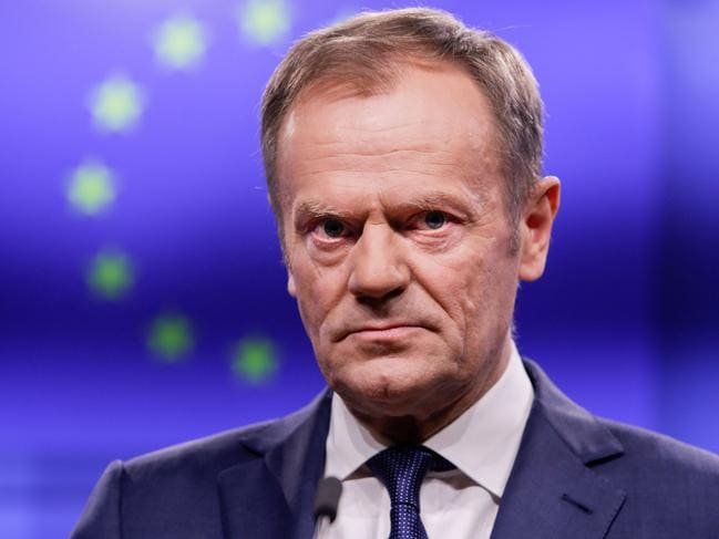 European Council President Donald Tusk said there was a special place in hell for Brexiteers. Picture: AFP