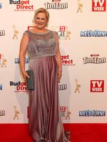 Collette Mann on the red carpet at the 2015 Logie Awards at Crown Casino in Melbourne. . Picture: Julie Kiriacoudis