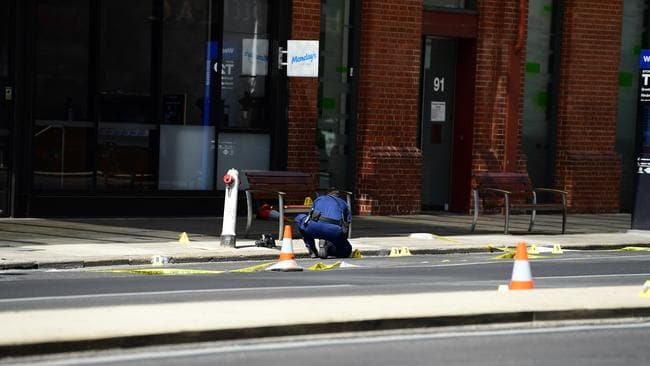 The scene on Grenfell Street. Picture: Mark Brake/AAP