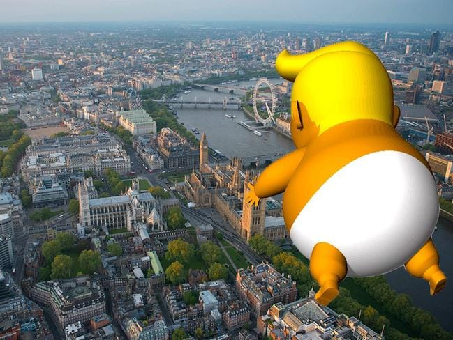 Trump Baby blimp gets the green light from London Mayor, Sadiq Khan. Picture: Trump Baby UK