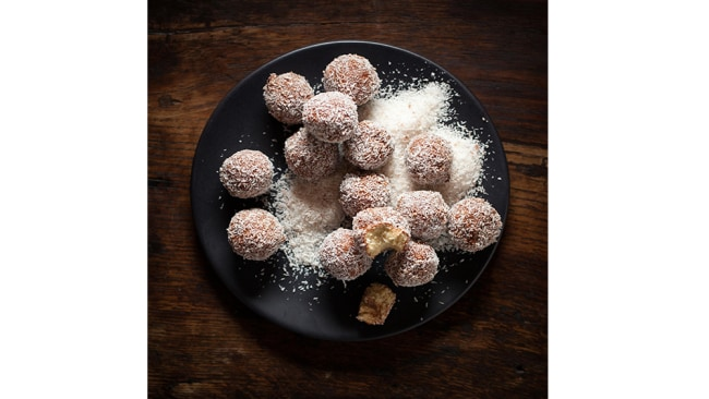 Teresa Cutter's healthy lamington bits recipes.