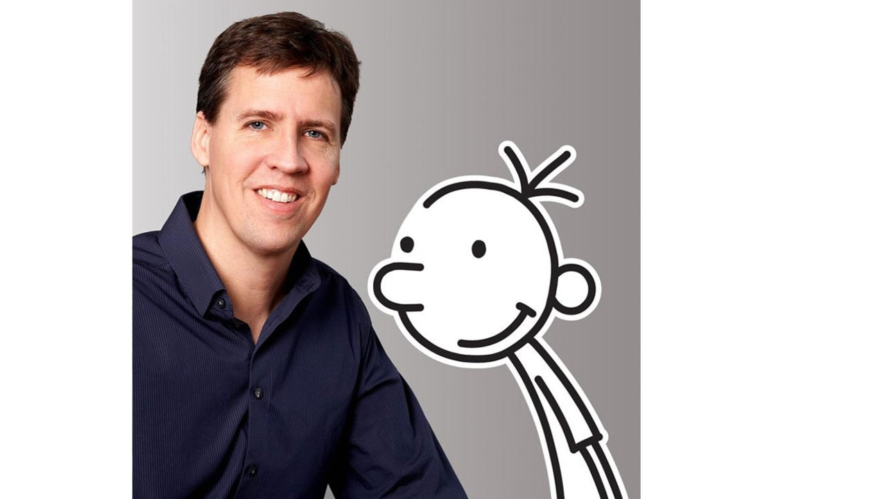 Jeff kinney diary of a wimpy kid author reflects on success diary of a wimpy kid author jeff kinney with his creation solutioingenieria Choice Image