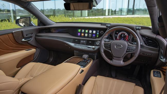 The interior showcases Lexus' attention to details.