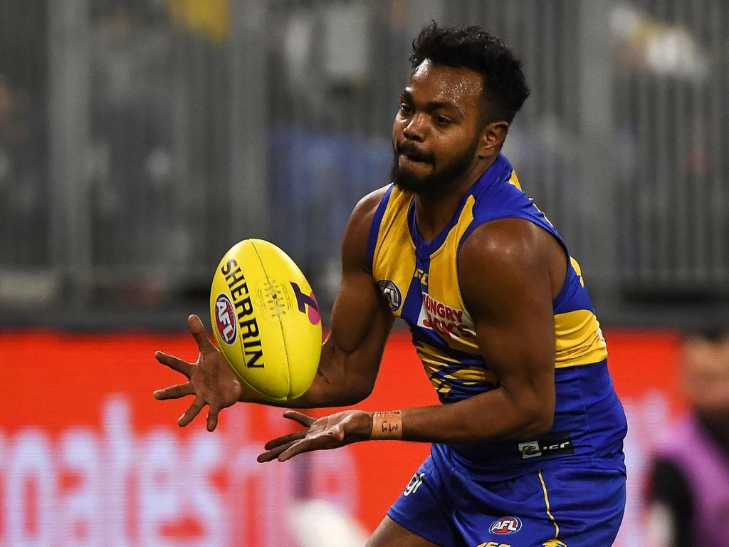 Willie Rioli hasn't played an AFL game since the Eagles' win over Essendon in the 2019 elimination final. Picture: Daniel Carson