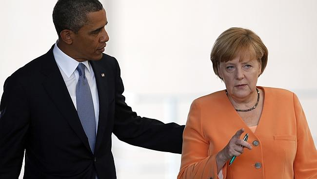 These two used to be the best of friends. That's Angela Merkel on the right. Photo: AP