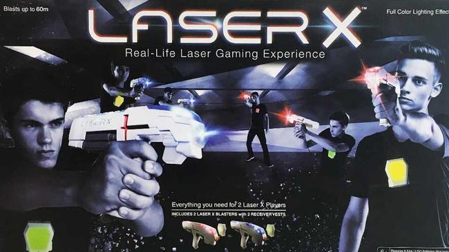 """Laser X offers a """"real-life laser gaming experience"""". Picture: Kmart"""