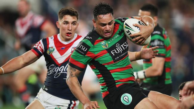 The Roosters have been heavily backed to beat the Rabbitohs tonight. Picture: Phil Hillyard