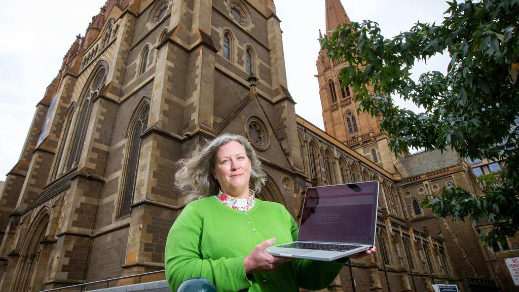 The dean of St Paul's cathedral, Heather Patacca, is preparing to take online services. Image: Mark Stewart