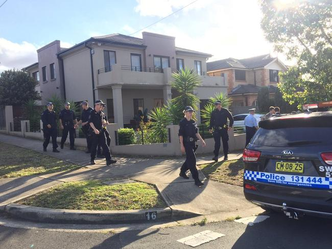 Police raided the Ibrahim house on November 21. Picture: Twitter