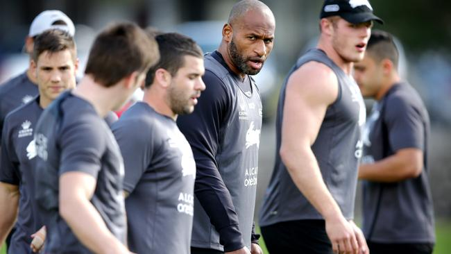 Lote Tuqiri trains with the Rabbitohs in what could be his last season. Pic: Gregg Porteous