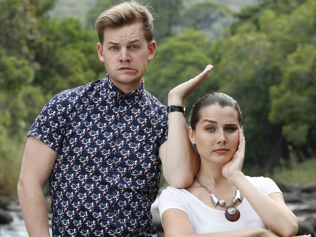Joel Creasey, pictured with I'm A Celebrity ... Get Me Out Of Here Now! co-host Heather Maltman, is a positive public figure, Michael Lucas says. Picture: Nigel Wright