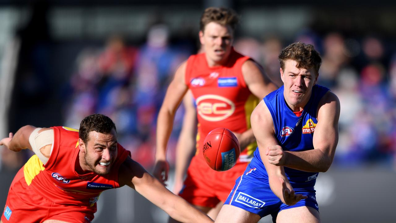 Jack Macrae collected 40 touches in Ballarat on Saturday.