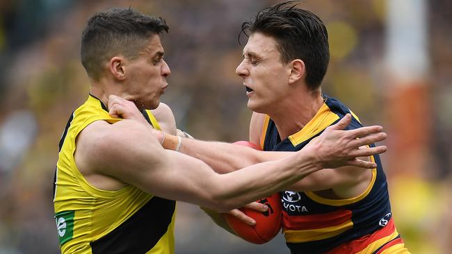 Dion Prestia hasn't played an AFL match since the Grand Final. Photo: AAP Image/Julian Smith