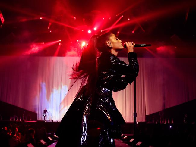 Ariana Grande in February — media couldn't photograph the singer in Australia. Picture: Getty Images
