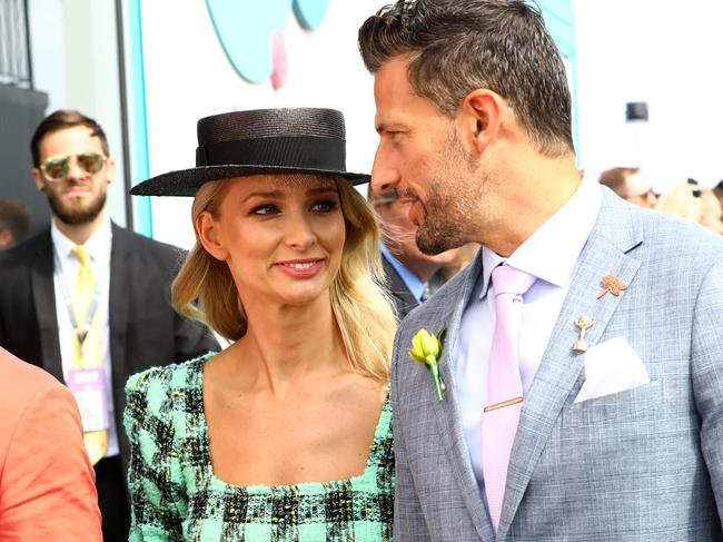 Anna Heinrich and Tim Robards on Melbourne Cup day. Picture: Matrix