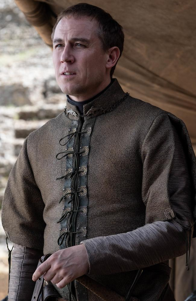 Tobias Menzies as Edmure Tully when he puts himself forward as the next king. Yeah, nah. Picture: Macall B. Polay/HBO
