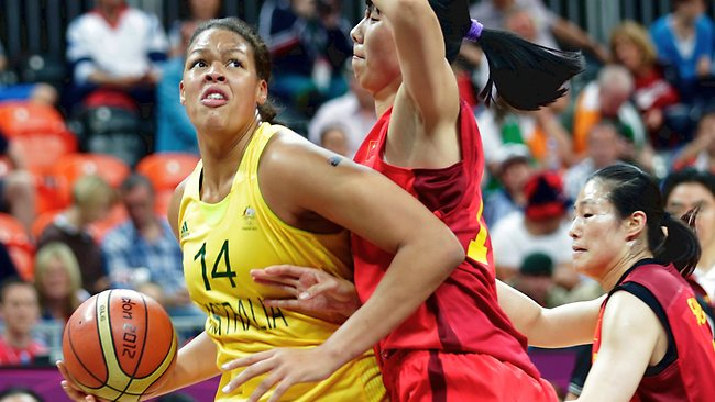 Liz Cambage led the way for Australia with 14 points as Australia beat China to move into the semi-finals of the women's basketball.