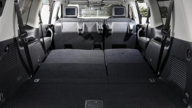 The seats can be folded down for a huge cargo space.
