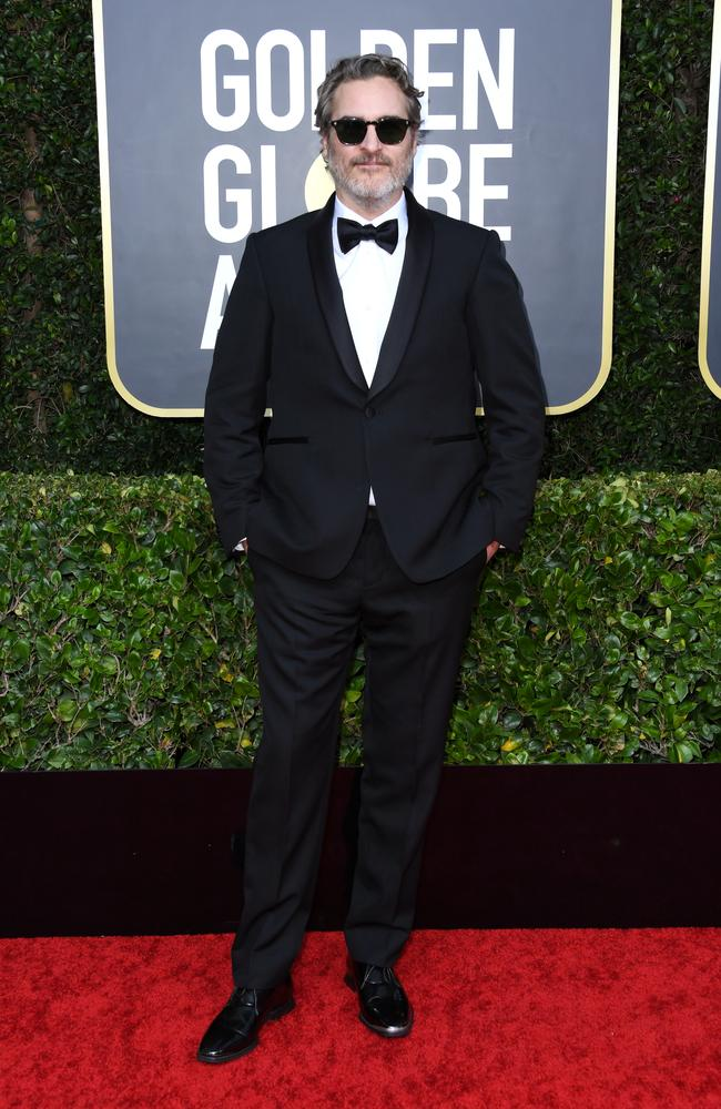 Joaquin Phoenix has vowed to wear the same tux to every awards ceremony this year. Picture: Getty Images.