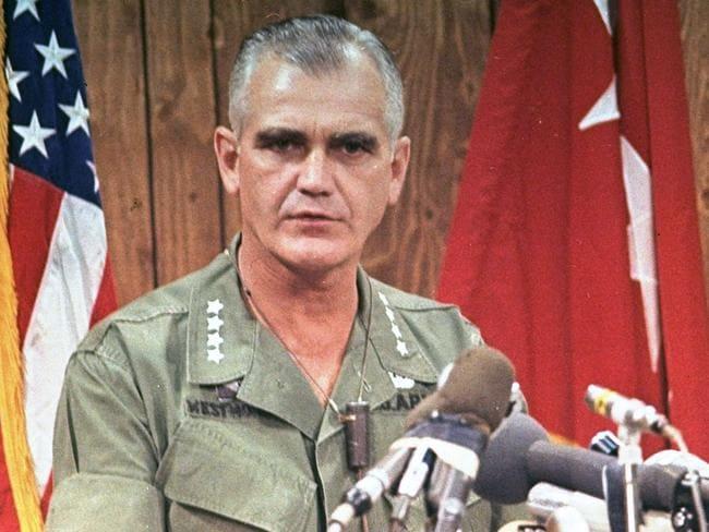 US General William Westmoreland, commander of troops during Vietnam War, in 1967.