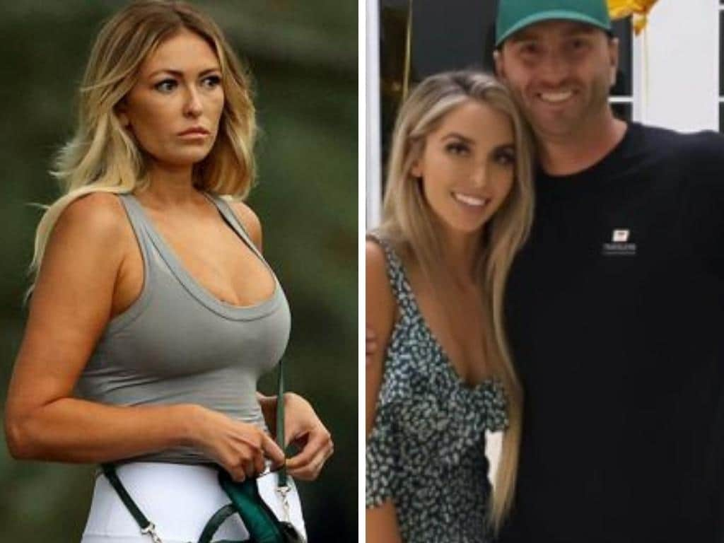 Paulina Gretzky celebrated with Austin Johnson and Samantha Johnson. Photo: Instagram, Getty.