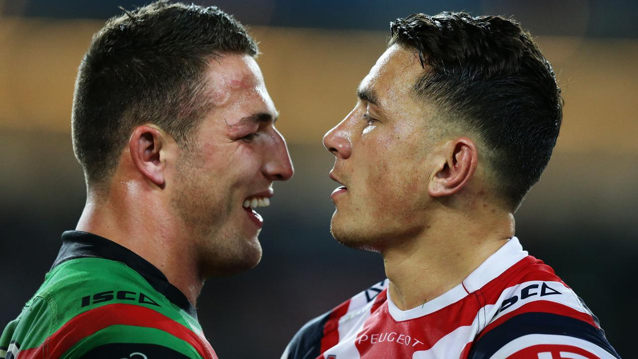 South Sydney's rivalry with the Sydney Roosters is like no other in the NRL. Photo: Brett Costello