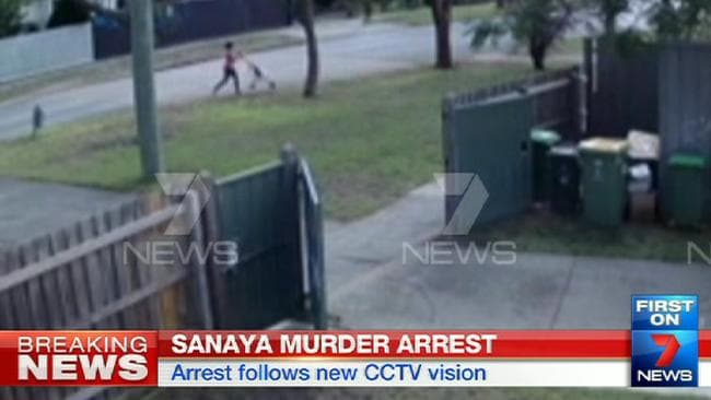 Sofina Nikat is captured on CCTV. Picture: Seven News