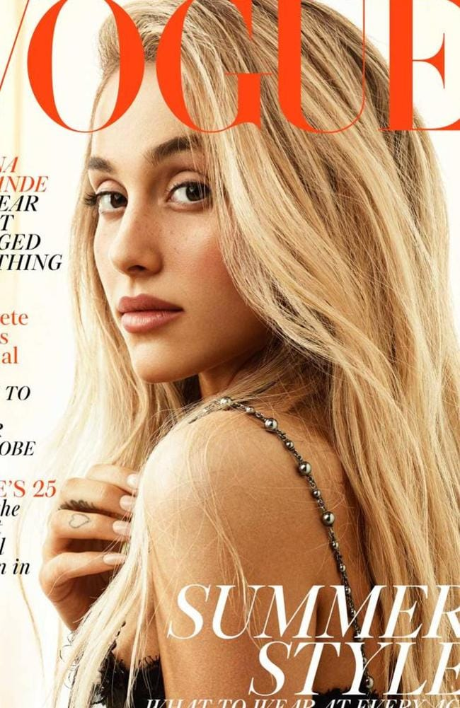 Ariana Grande covers British Vogue — yep, that's really her.