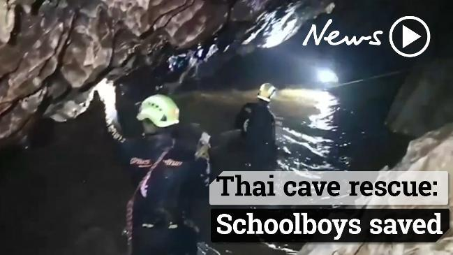 Schoolboys, coach saved in Thai cave rescue