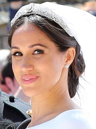 Meghan wore Queen Mary's filigree tiara